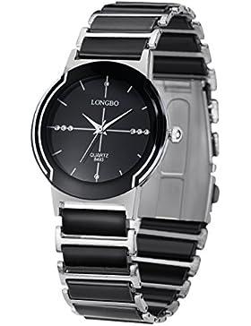 Frauen-schwarze Keramik-Uhren Casual Paar populäre modische Uhr rinestone Geschäfts Armbanduhr