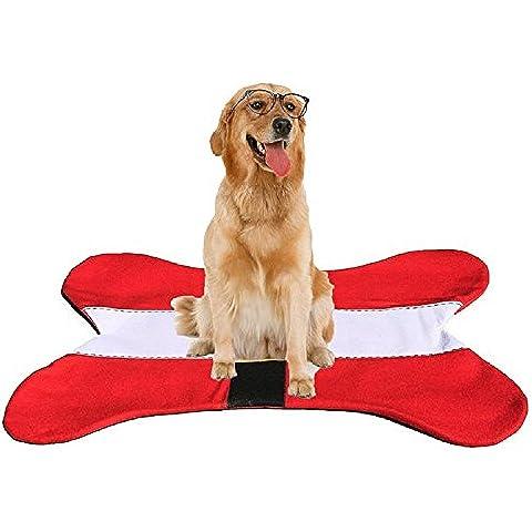 XJoel Perro de mascota Os Navidad estera del animal doméstico del hueso de perro del gato alfombra de la estera de la almohadilla de hueso Forma Decoración de Navidad 36