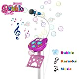 COMVOX Kids Karaoke Machine, Kids Singing Microphone with Bubble Function, Girls Singing Karaoke