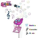 Karaoke Microfono Infantil con Maquina Burbujas para Niños, Cumpleaños Navidad Regalos Niñas 3 4 5 6 Años, Chicas Micrófono Juguete, Juguetes Niñas 4 5 6 7 8 Años