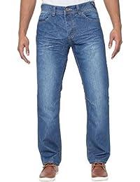 ENZO homme élégant délavé classique droit ajusté Jeans Jeans pantalon tailles 28-42