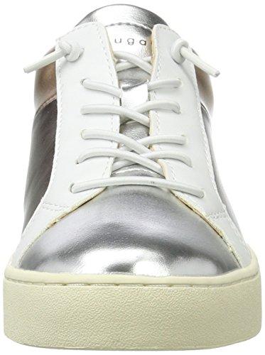 Bugatti Damen 422291605050 Sneaker Weiß (white/metallics)