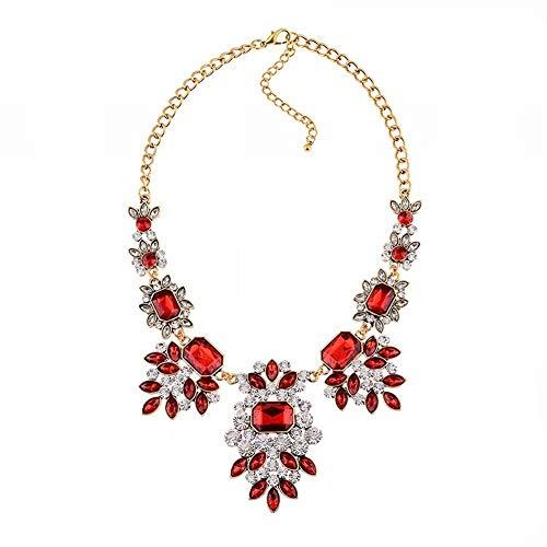 CFHJN Home Griechisch für Frauen Götter ägyptischen gefälschte Kragen übertrieben Kurze Diamant Halskette für Frauen Mode Lange Kleidung Accessoiresred (Halskette ägyptische Kragen)