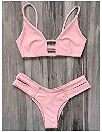 Changx Woman Bikinis Sexy Bandage Swimsuit Swimwear Halter Beach Bathing Suits