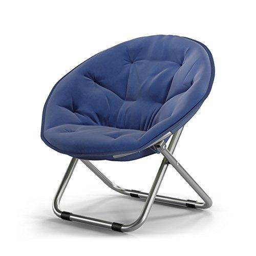 Home-life Faltender runder Stuhl-Sofa-Stuhl-Segeltuch-Sonnenliege liegend Mond-Stuhl, der...