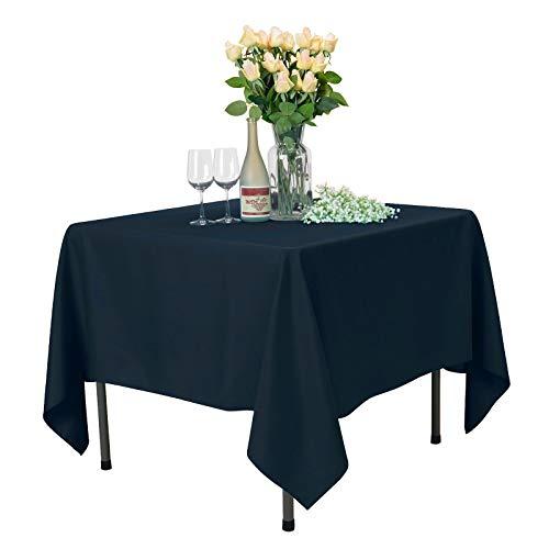 Veeyoo tonda rettangolare quadrato solido poliestere tovaglia matrimonio ristorante party tovaglia, tessuto, navy, square-180 x 180 cm