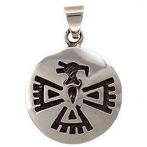 Adler Indianerschmuck Silber 925 Handarbeit Anhänger (Hopi-Style)