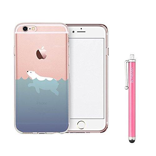 Schutzhülle iPhone 7Schutzhülle étui-case transparent Liquid Crystal Mandala aus TPU Silikon klar, Schutz Ultra Slim Premium, Schutzhülle Prime für Iphone 7(2016) le Ours de la natation