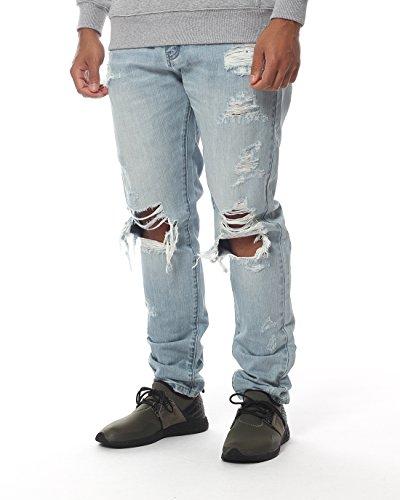 Cayler & Sons Homme Jeans / Jeans Straight Fit destroyed Bleu