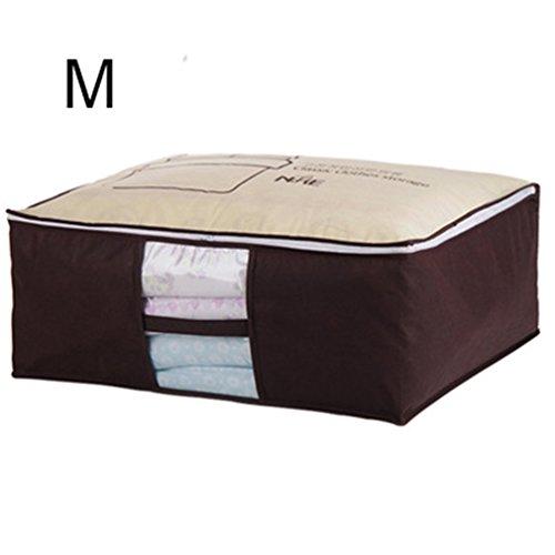 KCNCKSL Nicht Gewebte Familie Sparen Platz Bett Unter Schrank Aufbewahrungsbox Kleidung Teiler Veranstalter Quilt Bag Halter Veranstalter Minimalism-m (Quadrat Bett In Einem Beutel)