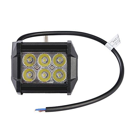 Yuanline® 12V 24V 18W Phare Voiture AUTO Led Projecteur Spot Lampe de Travail étanche IP67 Pour Véhicule Camion SUV Bateau Chantier