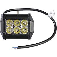 LE Foco LED 18W para Coche, 1800lm, luz auxiliar para off-road uso fuera de carretera, camiones, coches, todo terrenos, barcos