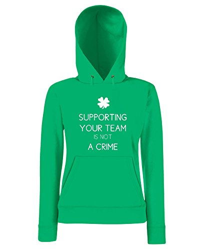 T-Shirtshock - Sweatshirt a capuche Femme WC0583 Supporting Your Team is not A Crime CELTIC GREEN BRIGADE Vert