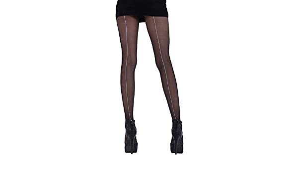 045d56370 Cecilia de Rafael Hyde Park Back Seam Tights Black White XS 1   Amazon.co.uk  Clothing