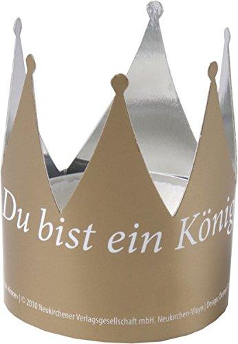 Preisvergleich Produktbild Tischschmuck Krone: DIN A6-Karten mit Metallfolie beschichtet, Figur vorgestanzt, Verpackungseinheit 10 Karten mit 20 Figuren