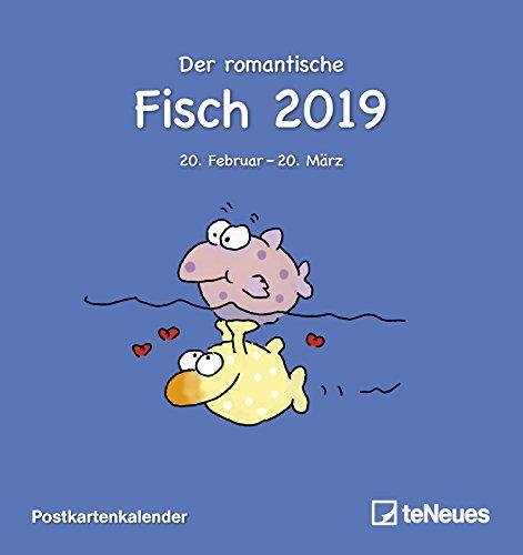 Sternzeichen Fische 2019 - Horoskopkalender, Postkartenkalender, Astrologie 2019 - 16 x 17 cm