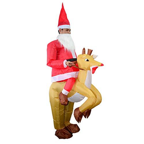 (THEE Aufblasbare Kostüm Lustig Kostüm für Party Halloween Karneval Fastnacht Fasching Uniform Anzug ,Hirsch)