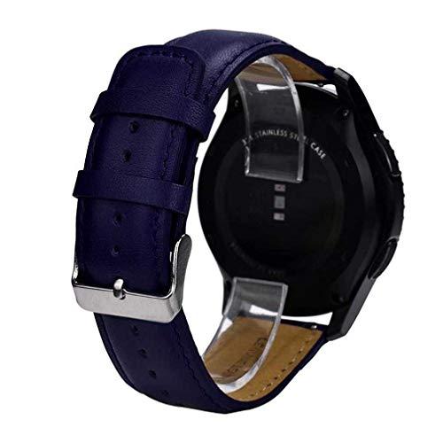 Bracelet à la Mode, fittingran Gear S3Band Frontie, Remplacement Bracelet en Cuir Bracelet pour Samsung Gear S3Frontier Bleu