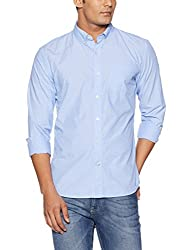 GAP Mens Casual Shirt (146810700034_46181021100_Large_Constellation Blue)
