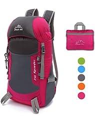 35L Ultraleicht Faltbare Wanderrucksack, NATUCE Multi-Funktionale Stopfbare Wasserdichte Casual Camping Tagesrucksack für Outdoor-Sport Klettern Bergsteiger