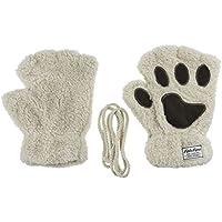 Alien Storehouse Kinder Dick Halbe Fingerhandschuhe Gestrickte Convertible-Flip-Top Handschuhe mit Handschuhabdeckung 04