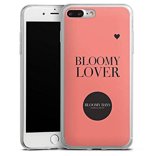 Apple iPhone 8 Slim Case Silikon Hülle Schutzhülle Blumen Liebe Sprüche Kreis Silikon Slim Case transparent