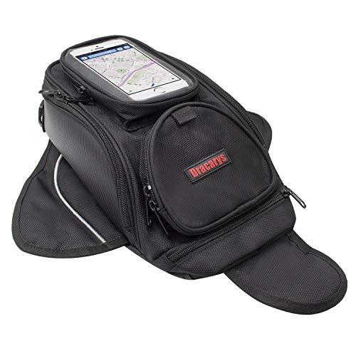 Bolsa de Tanque de Motocicleta - Impermeable Oxford Saddle Negro Bolsas para...