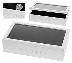 boite de rangement pour montre coffret pour 12 montres blanc bienvenue. Black Bedroom Furniture Sets. Home Design Ideas