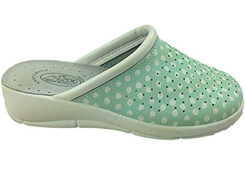 Foster Footwear - Sandali con Zeppa donna Mint/Polka Dot