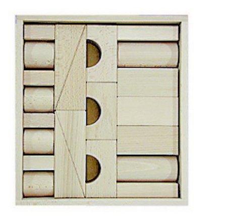 Fröbel Holzbausteine im Baukasten 22 Teile