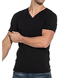 Teddy Smith Men39s T-Shirt Black V-Neck