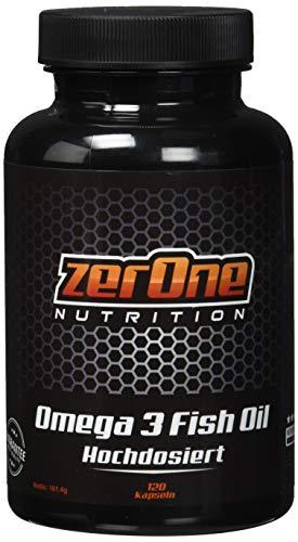 Zerone Omega 3 120 Kapsel Hochdosiert, Fisch-Öl Kapseln Essentiellen Fettsäuren, Stärkung des Immunsystems Verbesserug von Herz Kreislauf 120 Kapseln