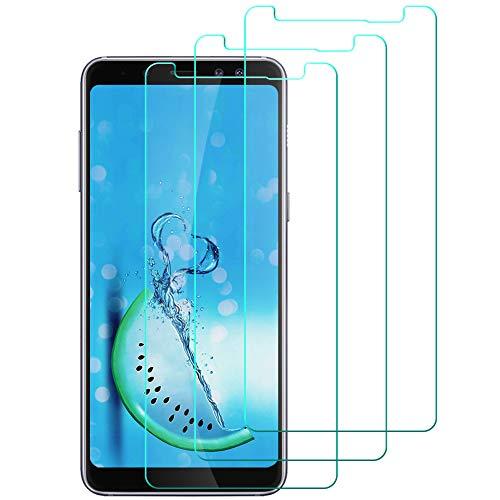 [3 Pièces] Verre Trempé SAMSUNG GALAXY A8 2018, Film Protection en Verre trempé écran Protecteur Vitre pour Samsung Galaxy A8 2018, Sans Bulle Haute Transparence Ultra Résistant Dureté 9H