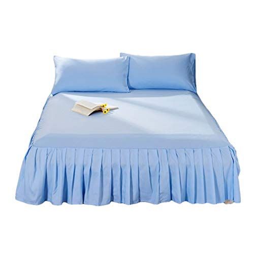 Guiran Einfarbig Bett Rock Bettdecke Einteiliges Volant Elegant Comfort Elastische Bettumrandung,Staubdicht Bettverkleidung Cq001-14 150 * 200cm