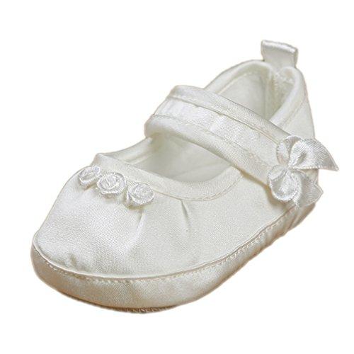Festliche Taufschuhe Babyschuhe Ballerinas Satin ivory creme Gr. 17 Modell 3580-i (Ballerinas Satin Weißen)