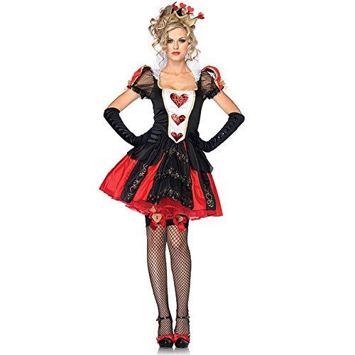 Für Erwachsene Kostüm Pfirsich - CAGYMJ Halloween Kleidungsdamenrock,Festival-Gotische Cosplay Rock Pfirsich Herz Königin Mittelalterliche Retro Kostüm Für Erwachsene,Kleidung Performances Kostümparty,XL