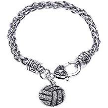 Lureme Art und Weise Kristall pflastern Volleyball-Hummer-Haken-Charme-Armband (bl003114)