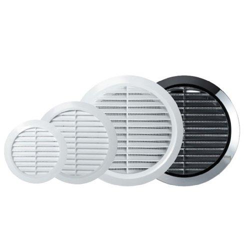 modello T73w MKK-SHOP Griglie di ventilazione /Ø 45 mm 2 pz per presa daria colore: bianco filtraggio contro polvere