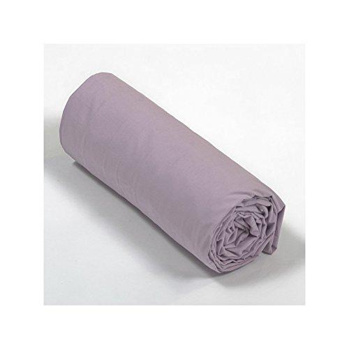 Drap House Percale 140x190 Bonnet 30 cm - Couleur: Vieux Rose