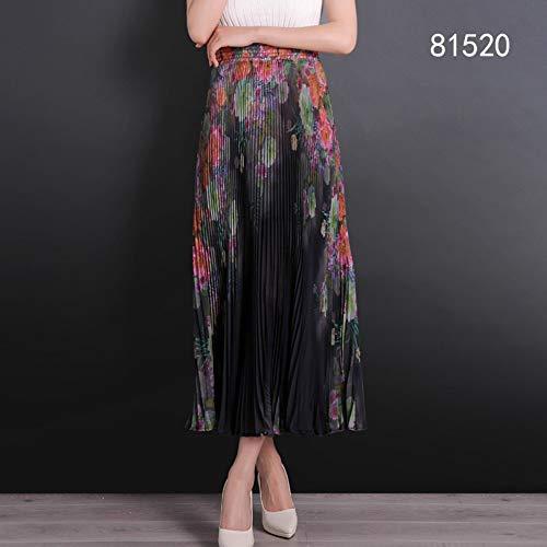 HEHEAB Falda Split Falda Plisada Acordeón Casual Faldas Femeninas Moda Primavera Verano La Gasa Falda Larga Falda Alto De Cintura Elástica Mujer