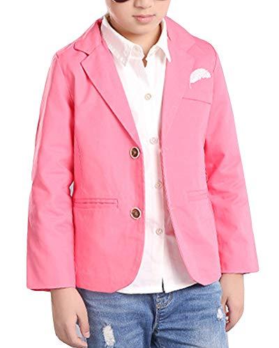 Niños Casual Blazers Chaqueta De Traje Pink 160CM