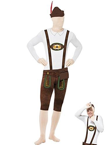 SMIFFY 'S Bayerische zweite Haut Anzug mit Hut/Bauchtasche/verdeckte Fliegen und unter dem Kinn (Kostüme Bavarois)