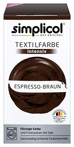 Simplicol Textilfarbe intensiv (18 Farben), Espresso-Braun 1816, Dunkelbraun: Einfaches Färben in der Waschmaschine