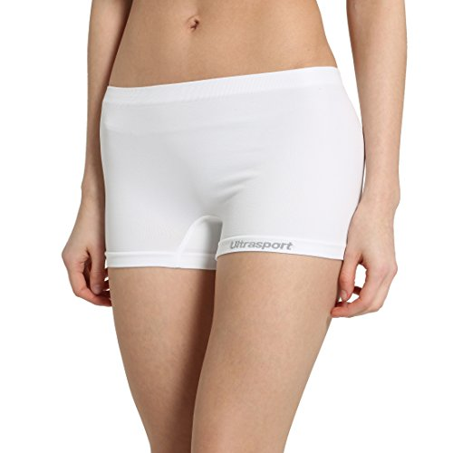 Ultrasport Damen Funktions-Sport Hot Pants Hipster: als Sport Shorts, bequeme Hotpants, Unterwäsche für Frauen, Weiß, 2XS/XS (Weiß Zwickel Kurze)
