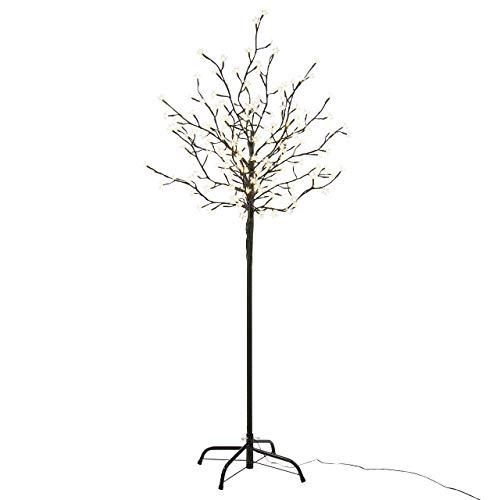 Nipach GmbH 200 LED Baum mit Blüten Blütenbaum Lichterbaum warm-weiß 150 cm hoch Trafo IP44 Timer Weihnachtsbeleuchtung Weihnachtsdeko Xmas