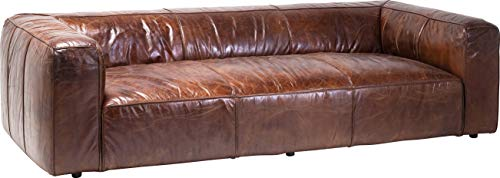 Kare Design Polstersofa Cubetto 3sitzer Couch, XXL Polstercouch, großes, modernes 2er/3er Loungesofa, Braun (H/B/T) 67x259x110cm