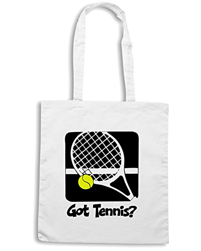T-Shirtshock - Borsa Shopping OLDENG00096 got tennis mens vneck Bianco