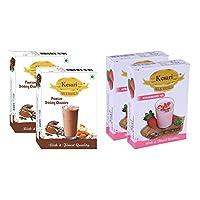 Kesari Premium Drinking Chocolate Milk Masala- 100 Gram, Strawberry Milk Masala-100 Gram Combo, Pack of 2