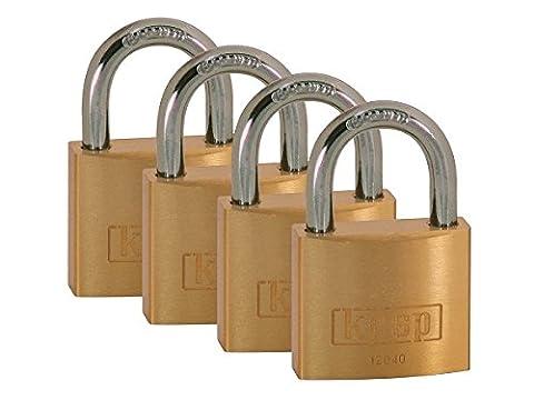 Kasp K12040D4 Série 120 Lot de 4 Cadenas à clé 40 mm