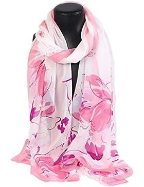 Prettystern HL771 - 180 cm X55cm 100% seta con sciarpa primavera e l'estate di seta - Foral fiore floreale - disponibile...